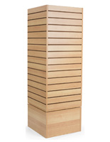Slatwall Revolving Tower with Maple Finish