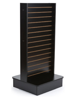 Slatwall Panel Stand with Black Finish
