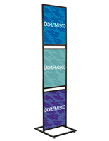 "Black Triple Tier 22"" x 28"" Graphic Stand"