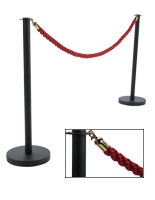 VIP Red Rope with (2) Black Posts