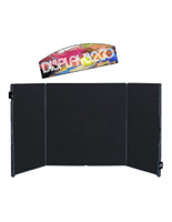 Project Display Board with Printed Header & Black Fabric