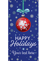 2' x 4' hanging vinyl holiday banner for outdoor use