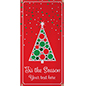 2' x 4' vinyl hanging holiday banner with pre-printed seasonal graphics
