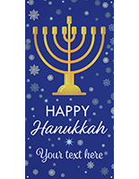 3' x 6' hanging vinyl Hanukkah banner for outdoor use