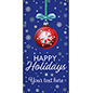 3' x 6' hanging vinyl holiday banner for outdoor use