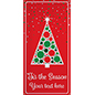 Christmas tree hanging vinyl banner with strong grommets
