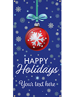4' x 8' hanging vinyl holiday banner for indoor or outdoor display