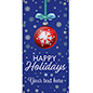 4' x 8' hanging vinyl holiday banner for outdoor or indoor mounting