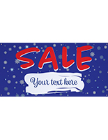 8' x 4' seasonal hanging banner with stock message & personalization option