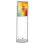 Silver 18 x 24 Mobile Poster Stand, Top Loading