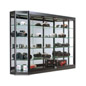 "Illuminated Wall Display Cabinet, 12"" Deep"