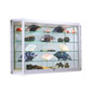 Wall Showcase Cabinet with LED Lights, Deep Shelves