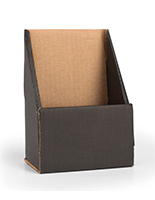 Countertop Black Trifold Brochure Holder