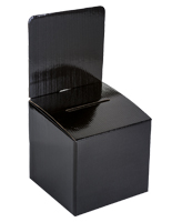 Collapsible Black Cardboard Entry Box