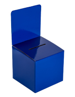 Countertop Blue Cardboard Entry Box