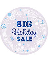 "24"" x 24"" seasonal window cling with snowflake design"