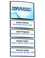 Building Directory Signs with 4 Snap-Out Lens Name Plates