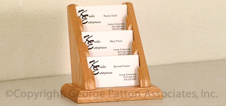 Oak calling card display wooden business case calling card holder colourmoves