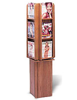 wood magazine rack