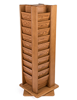 Medium oak revolving wooden display
