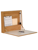 Oak Wall Mounted Folding Desk