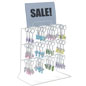 White Countertop Peg Display, Steel Wire