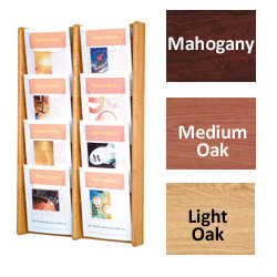 8-Pocket Wooden Magazine Rack