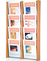 8 Pocket Wooden Magazine Rack