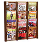 Wooden 12 Pocket Wall Display