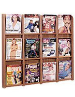 wallmount brochure rack