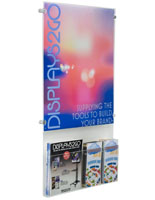 "Acrylic 18"" x 24"" Poster Display with Adjustable Literature Holder"