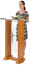 wooden cross podiums