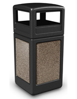 Black Outdoor Garbage Can