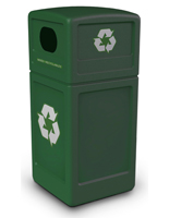 Green 42 Gallon Recycle Can