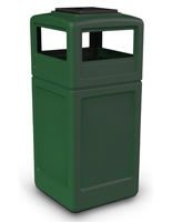 Forest Green Commercial Garbage Bin
