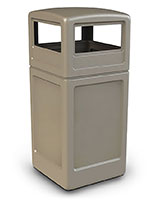 Beige Trash Container