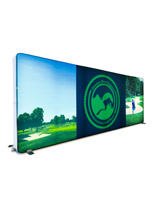 20' backlit trade show backdrop with pillowcase style zip-on graphics