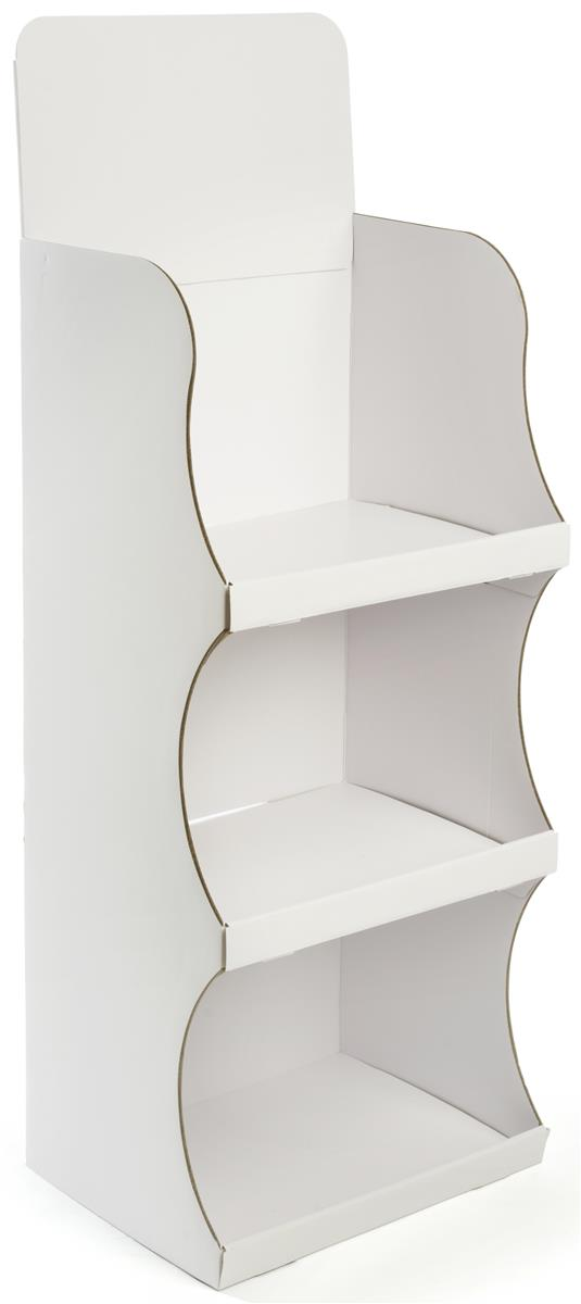 Cardboard Floor Shelf Stand 3 Tier Store Display