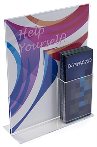 "Sign Frame & Brochure Display for 4"" x 9"" Literature"