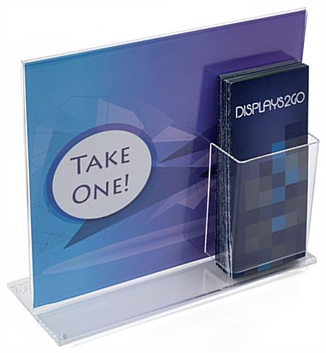 Sign Holder with Brochure Holder for Tabletop