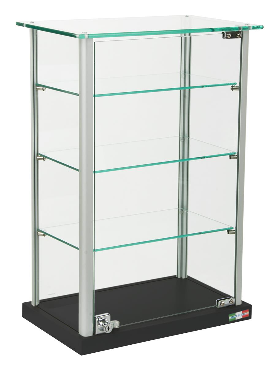 Countertop Display Case Locking Door For Protection Of