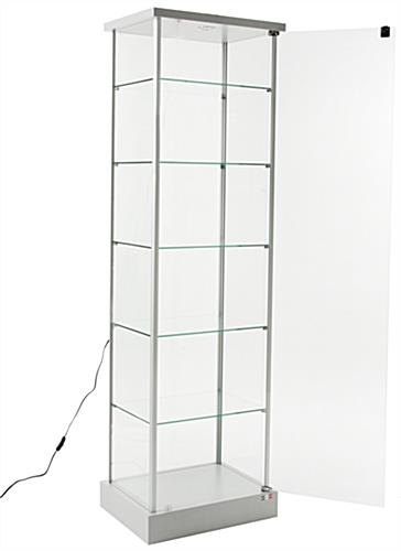 Glass Showcase | Tempered Glass Construction with Shelves