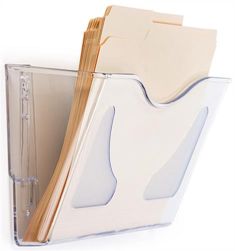 Acrylic Document Pocket Translucent Wall Filing System