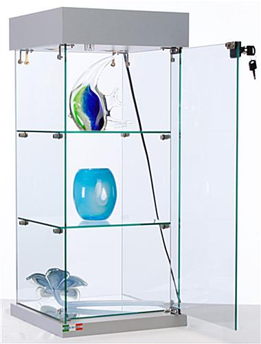 Glass Display Cabinet That Sits On Store Counter Fixtures - Assembly Required