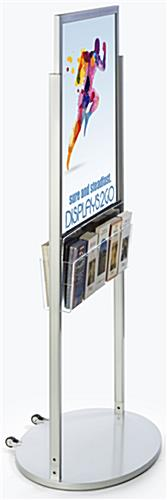 Silver 22 x 28 Mobile Poster Display with 10 Information Pockets for Graphics