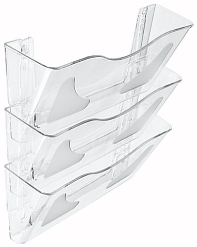 Set of 3 Clear Wall File Holder
