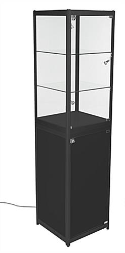 Portable Exhibition Cabinet : Locking jewelry displays knockdown design travel container