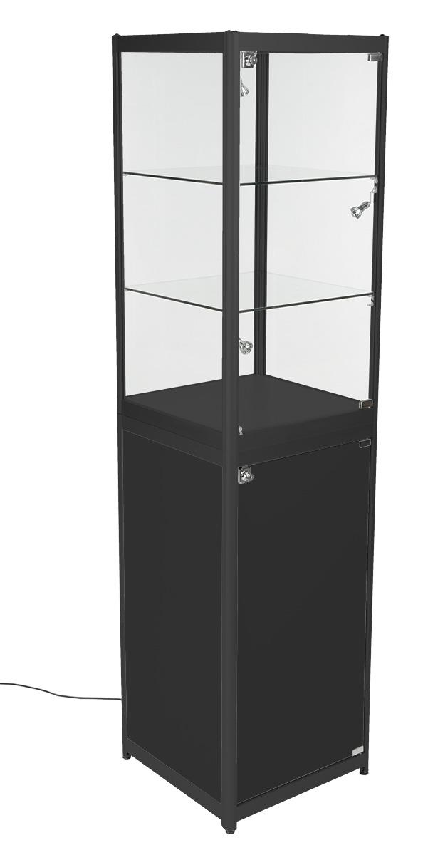 glass door display cabinet trade show showcases glass panel amp aluminum locking doors 15838