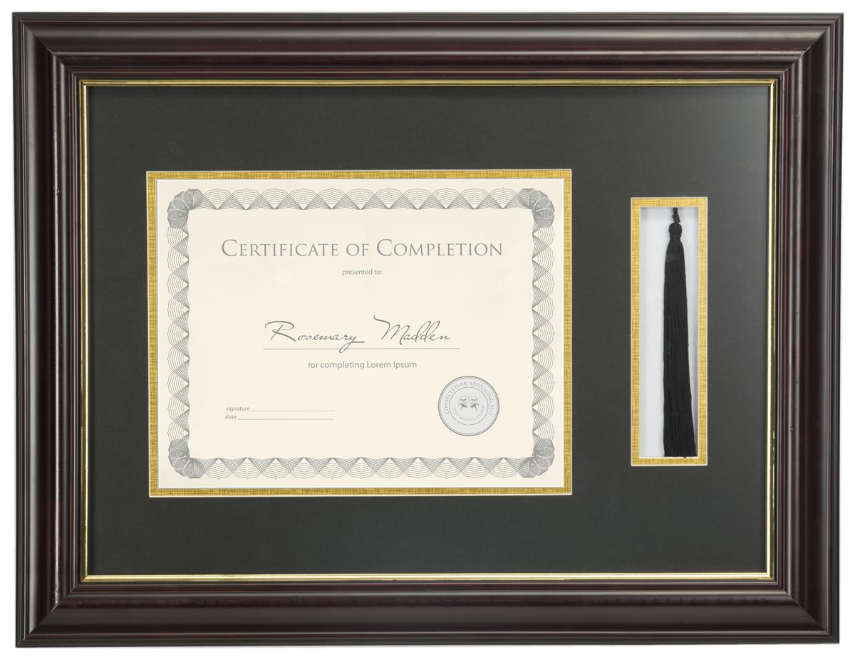 Diploma Frame W Tassel Holder Wood Look Certificate