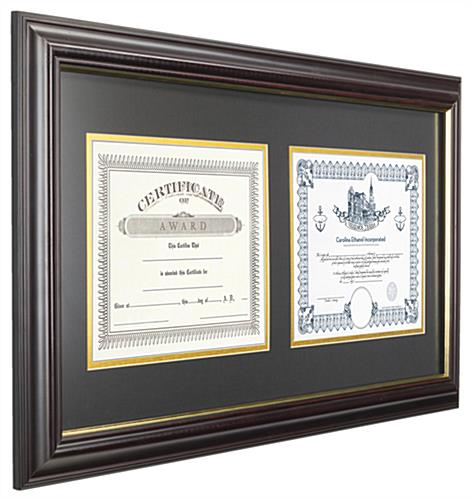 Double Diploma Frames Wall Mounting Design
